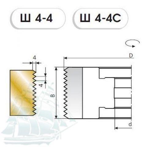 Фреза «SAMSON» для поперечного сращивания древесины Ш4-4 (125*32*50) Z=2+2
