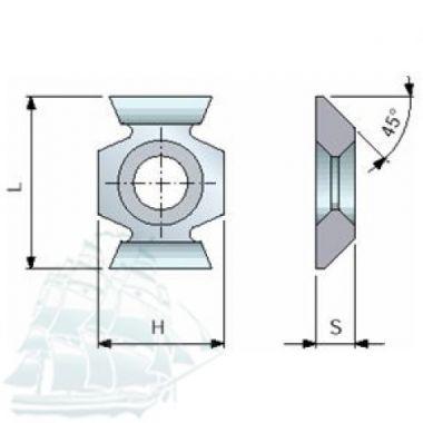 Твёрдосплавные пластины «BESTE» универсальные (16*22 45) Упаковка - 10шт.