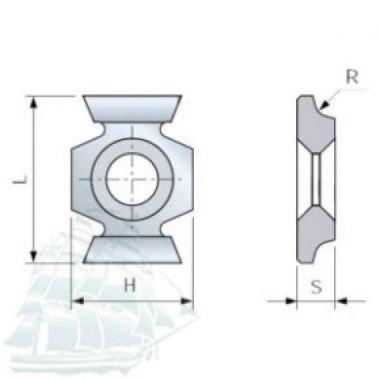 Твёрдосплавные пластины «BESTE» универсальные (16*22 R3) Упаковка - 10шт.