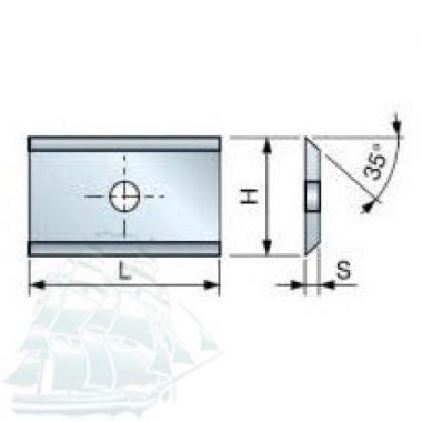Твёрдосплавные пластины «BESTE» для древесины (7,6*12*1,5) Упаковка - 10шт.