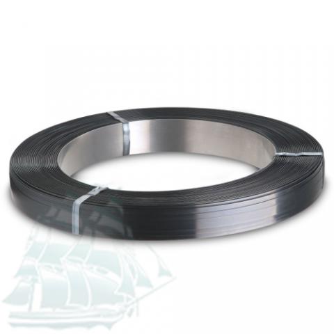 Стальная упаковочная лента (чёрный воск + лак) 19*0,8