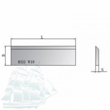 Нож строгальный Ital Tools HSS 18%W (640*30*3)