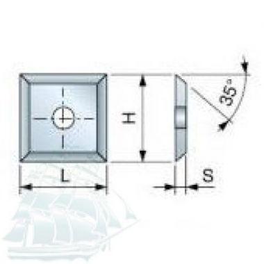 Твёрдосплавные пластины «TIGRA» универсальные (14*14*1,2) Упаковка - 10шт.